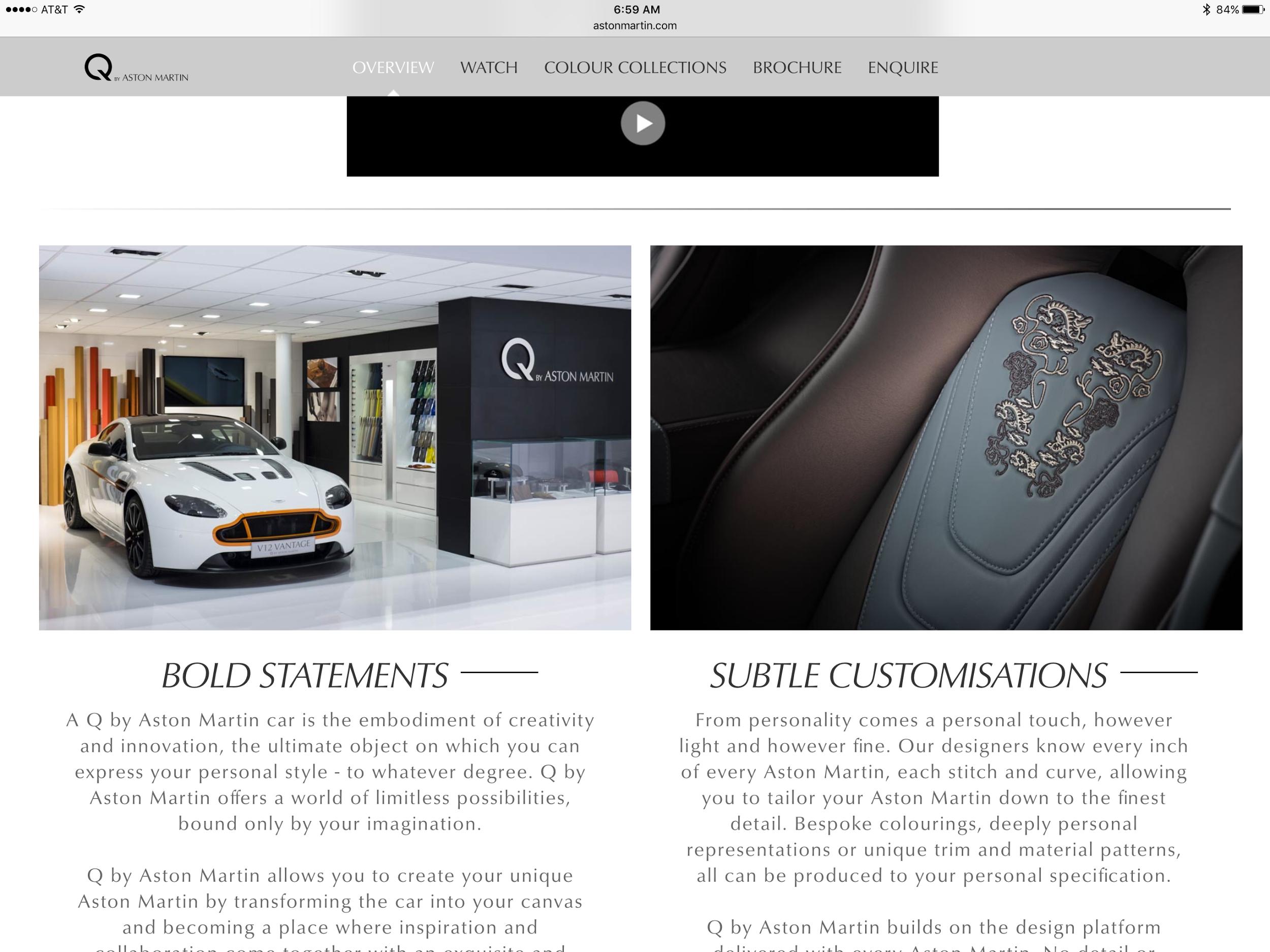 Aston Martin Customization with a Q